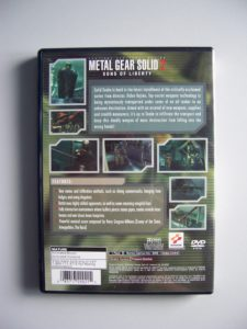 Metal Gear Solid 2 Sons Of Liberty (2) Back
