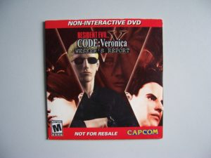 Resident Evil Code Veronica Wesker's Report Dvd (1) Front