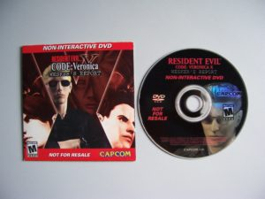 Resident Evil Code Veronica Wesker's Report Dvd (3) Contents