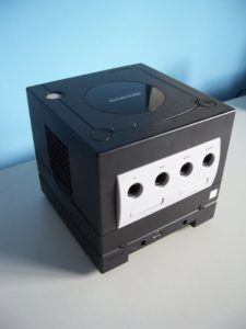 Nintendo GameCube with Game Boy Player Attached