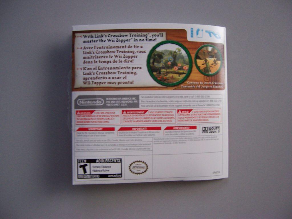 Wii Zapper  Inner Back