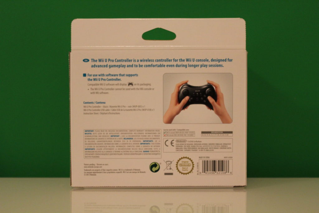 Nintendo Wii U Pro Controller  Back scaled